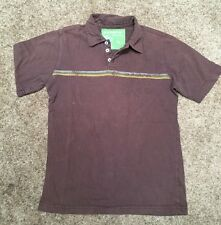 Quicksilver Pre Owned Boys/Youth Pull Over Polo Shirt Size Medium Brown