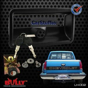Bully OE LH-002 Tail Gate Tailgate Lock & Bezel 88-98 Chevy CK Pickup 1500-3500