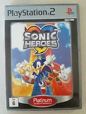 PS2 GAME - SONIC HEROES - with manual - PLAYSTATION 2