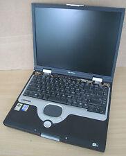 """Compaq Evo N1020V 15 """"ordinateur portable, pen4 2,4 GHz,1 go de ram, disque dur n, aucune batterie, réparation de rechange &"""