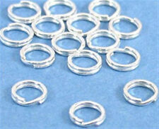 6mm Silver Plated Split Rings (100) Great for Charms!