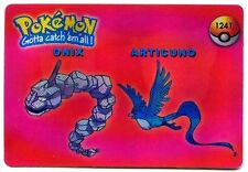 PROMO POKEMON JAPANESE DOUBLE SIDE CARD HOLO N° 1241 1225 ARTICUNO ONIX DUGTRIO