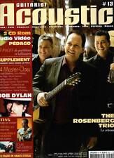 """GUITARIST ACOUSTIC #13 """"Rosenberg Trio,Dylan,P.Finger,Moreno"""" (revue) + CD & DVD"""