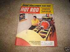 HOT ROD magazine December 1969 1970 Challenger 440 Wankel engine Talladega