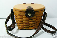 Longaberger Woodcrafts Handwoven Saddlebrook Basket Purse Bag w shoulder Strap