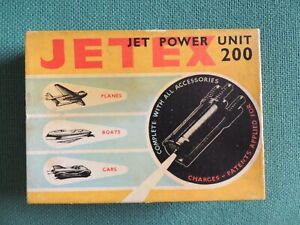 New in box Jetex 200 unit with fuels, tools, motor & clip & instructions