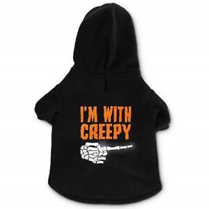 Petco Bootique Light Up I'm With Creepy Hoodie for Dog