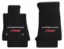 NEW! Black Carpet Floor Mats 2016-2019 Camaro Embroidered RS Double Logo Red Pr