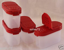 Tupperware Modular Mates Small Spice Containers Set (4) Popsicle Red Seals