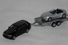 BMW Set X5 mit Z4 auf Anhänger Schuco neu + OVP 221959