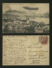 cartolina-postcard-postkarte-carte postale-Luzern mit Rigi-Luftschiff