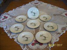 Gibiers Porcelaine De Paris 8 Flying Geese Vintage Dessert Plates