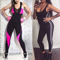 Women Fitness YOGA Leggings Jumpsuit Romper Sports Gym Pants Athletic Clothes US