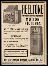1941 Reeltone coin-op movie motion picture jukebox photo vintage trade print ad