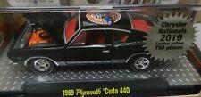 1969 MOPAR PLYMOUTH BLACK 440 CUDA BARRACUDA CARLISLE 2019 CHRYSLER'S M2 PROMO