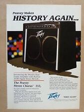 vintage magazine advert 1989 PEAVEY 212 STEREO CHORUS