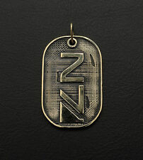 Dog tag inspired by Mass Effect game made from bronze