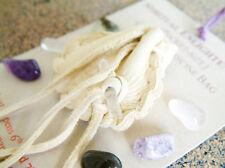 SPIRITUAL ENLIGHTENMENT CRYSTAL MEDICINE BAG Pocket Size Pouch Reiki Gemstones