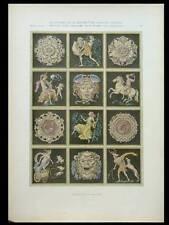 MYTHOLOGIE ART DECO -1924- LITHOGRAPHIE, BAUMULLER, MEDUSE