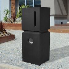 SALE - Sandstone BLACK Letterbox MODERN RIDGE  HEAVY PILLAR DESIGN MAILBOX - KEY