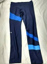 Under Armor Blue Compression Heatgear Leggings Yoga Fitness Womens Sz Med Pants