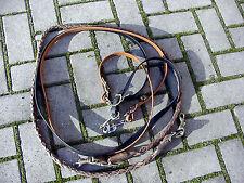 Arnos Biothane Zügel, Schwarz, 19 sh, 2,90 m, Silber