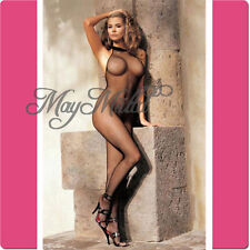 Black Neck Lace Fishnet Lingerie Nets Body Stocking Clothing Sales
