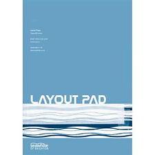 Seawhite Artists Layout Paper Pad A4 50gsm.80 sheets.For Art & Graphic Drawing