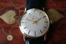 Mens fully working GOLD PLATED  vintage Swiss WATCH HELVETIA 17J  c1962 CAL 830