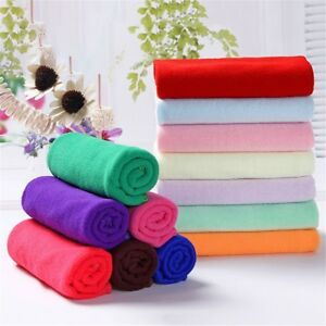 8 Multi-Color Soothing Cotton Soft Face Towel Cleaning Wash Cloth Hand Towel NEW