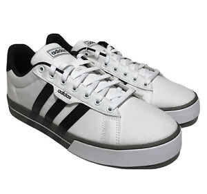 adidas Daily 3.0 Mens Size 11.5 Core White And Black Casual Skateboarding Shoes