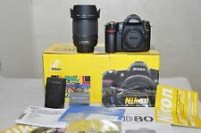 Nikon  D80 10.2 MP Digital SLR Camera - Black w/ 18-135mm Lens- ONLY 372 CLICKS