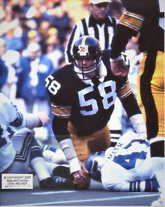 JACK LAMBERT photo in action Pittsburgh Steelers HOF (c) Super Bowl 4x