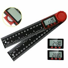 Digital Angle Finder Protractor 8 Stainless Protractor Ruler Lcd With Batteries