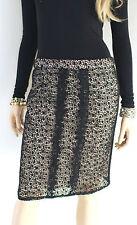 MARCCAIN Falda de dama Encajes Mezcla Algodón N4 N5 40 42 L XL Negro Rosado