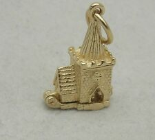 9ct GOLD OPENING VILLAGE CHURCH CHARM