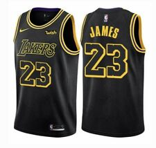 LeBron James #23 Los Angeles Lakers Hombre/Swingman Jersey Cosido 2018