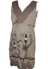 Transat Boutique Robe Savage Culture Beige brodee Taille L 40/42 - Promo