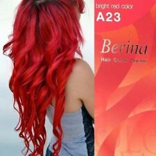 Berina A23 Bright Red Permanent Hair Dye Color Cream Unisex Punk Rock Profession