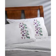 BUCILLA Premium Pillow Cases 2pk for Stamped Embroidery DANCING DANDALIONS