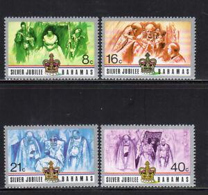BAHAMAS #402-405    1977 QEII SILVER JUBILEE  MINT  VF NH  O.G  a
