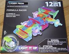 Formula Racer Laser Pegs Light up construction building toy Brick Block 12 in 1