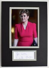 More details for nicola sturgeon signed autograph a4 photo display scotland first minister coa