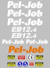 Decalcomania Sticker Set per Pel-Job EB12-4 Mini Escavatrice BAGGER Pelle