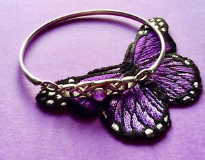 Beautiful AMETHYST Set Sterling Silver Celtic Knot BANGLE/BRACELET.