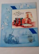 1950s Forget Me Not Dad Father Birthday Greeting Card Duck Hunting Hunter Sport