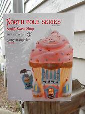 DEPT 56 NORTH POLE VILLAGE Santa's Sweet Shop YUM YUM CUPCAKES NIB