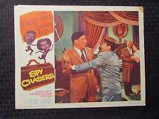 "1955 SPY CHASERS Original 14x11"" Lobby Card VG- 3.5 Bowery Boys Huntz Hall"