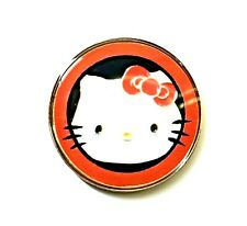 anneys - **GOLF  BALL  MARKERS - hello kitty - 24mm diameter**red border.