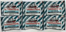 909998 6 x 25g PACKETS OF FISHERMAN'S FRIEND FRESHMINTS - SPEARMINT - U.K.